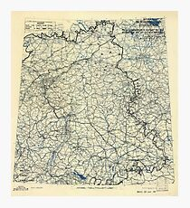 May 7 1945 World War II HQ Twelfth Army Group situation map Photographic Print