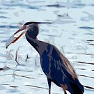 Blue Heron Abstract by K D Graves Photography