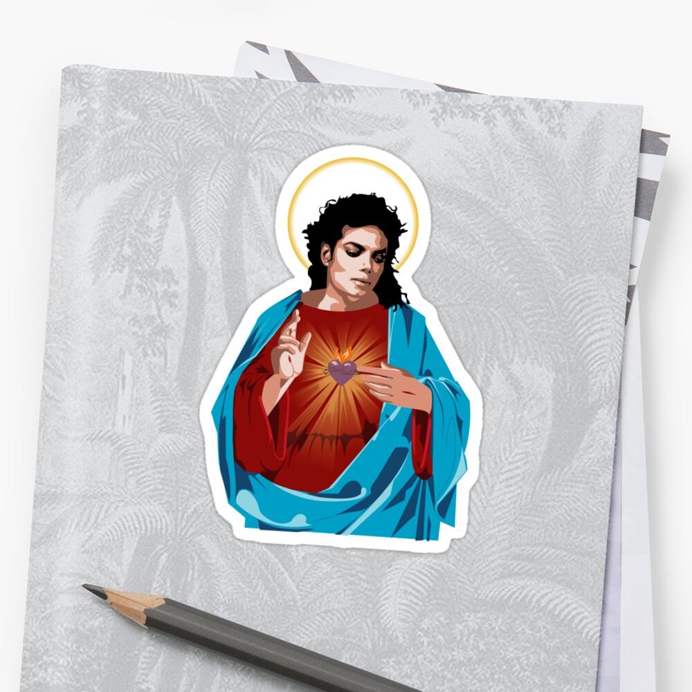 MJ sacred heart by baaadllama