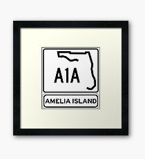 A1A - Amelia Island, Florida - Sun and Fun! Framed Print