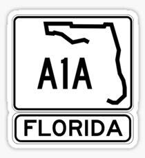 A1A - Florida - Sun and Fun! Sticker