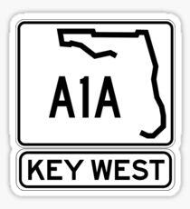 A1A - Key West, The Conch Republic Sticker