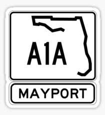 A1A - Mayport, Florida - Sun and Fun Sticker