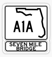 A1A - Seven Mile Bridge Sticker