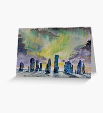 Winter Solstice at Callanish stone circle. Greeting Card