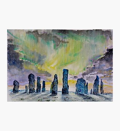 Winter Solstice at Callanish stone circle. Photographic Print