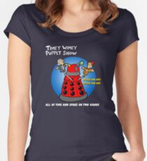 Timey Wimey Puppet Show Women's Fitted Scoop T-Shirt