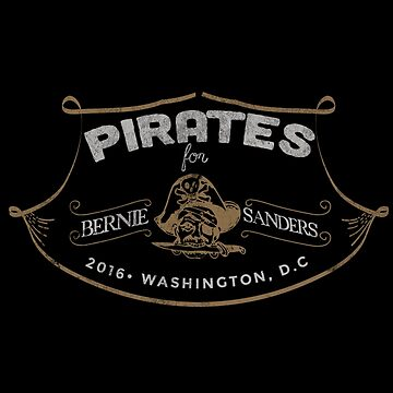 Pirates For Bernie Sanders by bluzink