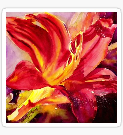 Red Day Lily Sticker