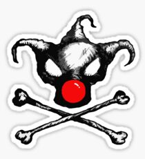 Bozo Skull 2  - Red Nose Sticker