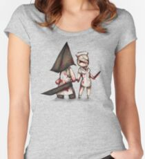 Silent Plushie Hill Women's Fitted Scoop T-Shirt