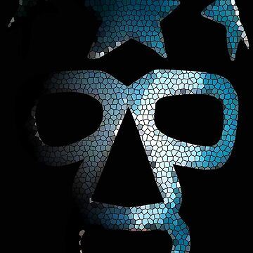 Masked Superstar in stained glass by herogear