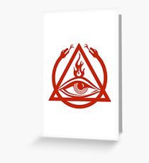 The Order of the Triad - The Venture Brothers Greeting Card