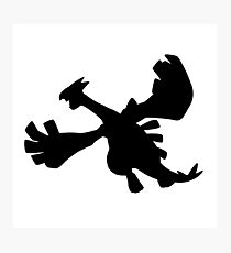 Lugia silhouette Photographic Print