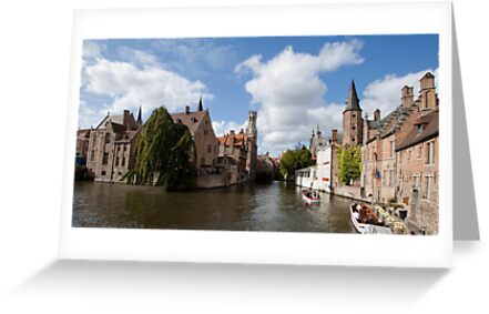 Curved Canal in Bruge Belgium by renprovo