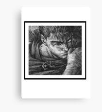 Berserk Guts Blk and Wht Canvas Print