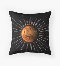 Mars Express Timeline Infographic Throw Pillow