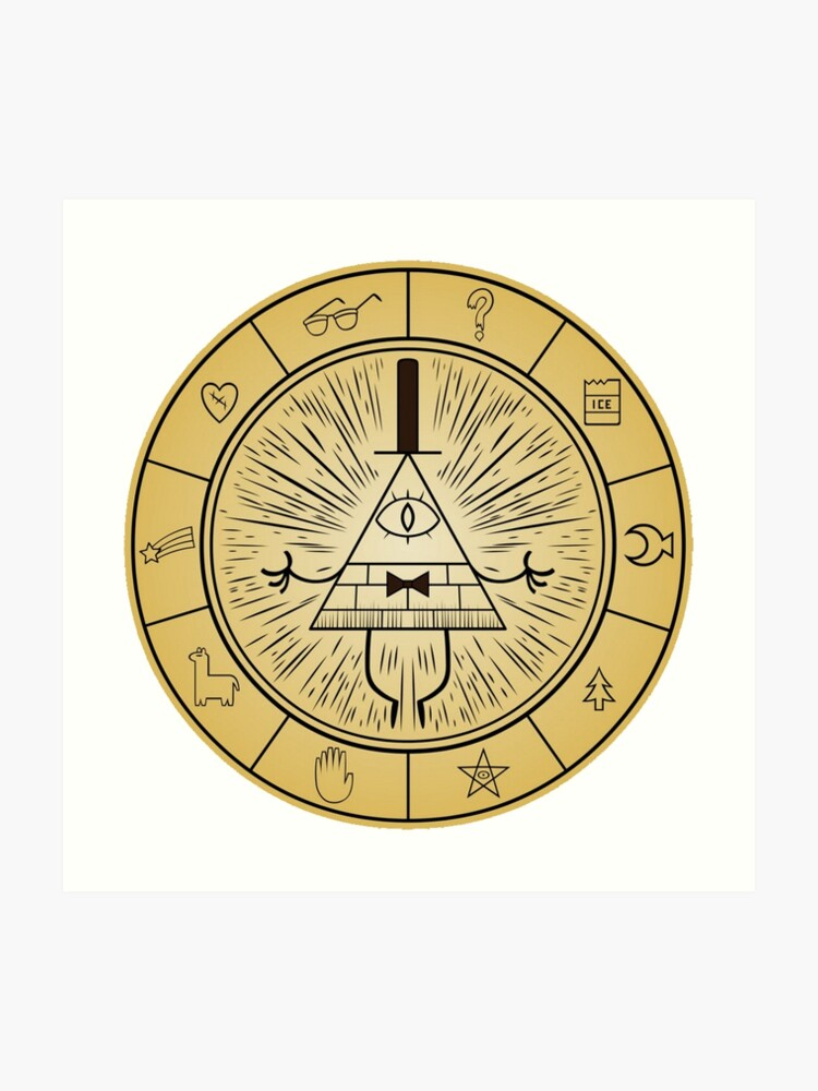 graphic about Cipher Wheel Printable called Gravity Falls Invoice Cipher Wheel Artwork Print