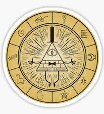 Gravity Falls Bill Cipher Wheel Sticker