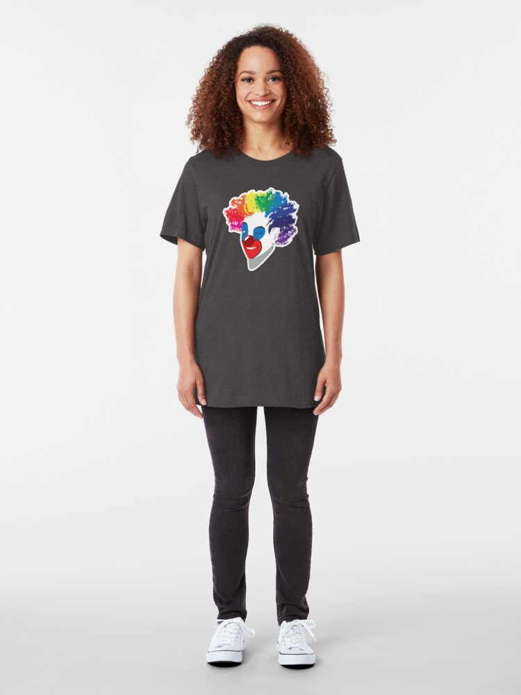 Alternate view of Class Clown: Clowning around Slim Fit T-Shirt
