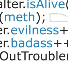 Breaking bad - code Sticker