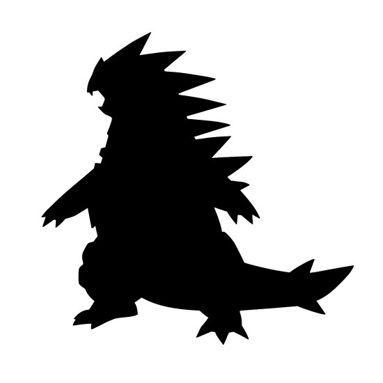 Tyranitar Silouette by Frankie T