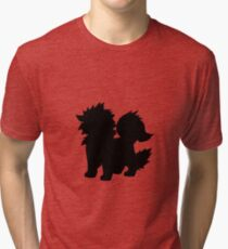 Arcanine Silhouette Tri-blend T-Shirt