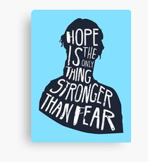 Hunger Games Quote Canvas Print