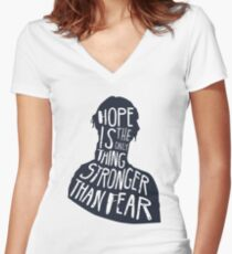 Hunger Games Quote Women's Fitted V-Neck T-Shirt