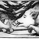 Solstice Boar Hunt by Ingrid  Kallick