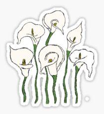 Calla Lillies Sticker