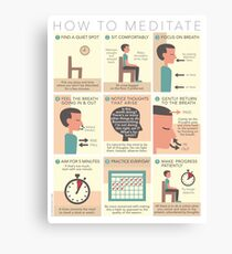 How to Meditate Canvas Print