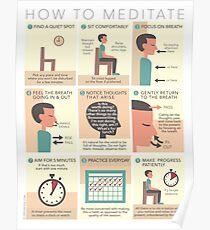 Wie man meditiert Poster