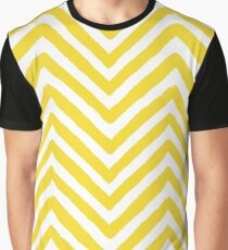 Chevron Yellow and White Pattern Graphic T-Shirt