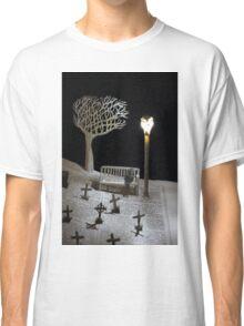 Paper craft lonely Churchyard book sculpture Classic T-Shirt