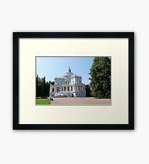 View Sliding Hill Palace in Oranienbaum Framed Print