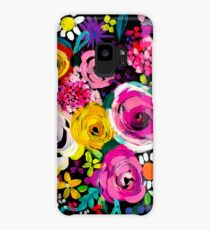 Les Fleurs Vibrant Floral Painting Print Case/Skin for Samsung Galaxy