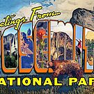 Yosemite National Park Retro Greetings From Art by Anthony Ross