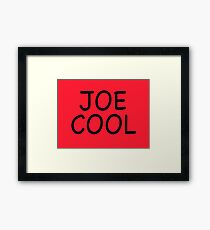 Joe Cool – Snoopy Shirt/Sweatshirt, Cosplay Framed Print