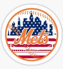 New York Mets Flag Logo Sticker