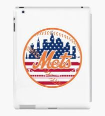New York Mets Flag Logo iPad Case/Skin