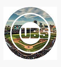 Chicago Cubs Stadium Logo Photographic Print