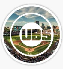 Chicago Cubs Stadium Logo Sticker