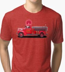 Old Fashioned Fire Truck Tri-blend T-Shirt