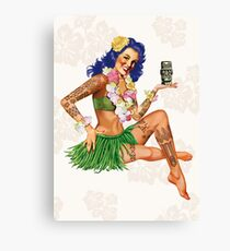 Hawaiian Pin-up Canvas Print