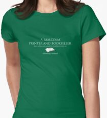 A. Malcolm Printer and Bookseller Women's Fitted T-Shirt