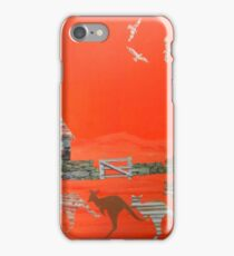 Kangaroo country - Collage of old Australian outback scene iPhone Case/Skin