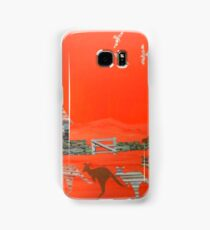 Kangaroo country - Collage of old Australian outback scene Samsung Galaxy Case/Skin