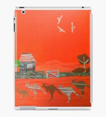 Kangaroo country - Collage of old Australian outback scene iPad Case/Skin