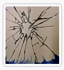 Crying Glass Sticker